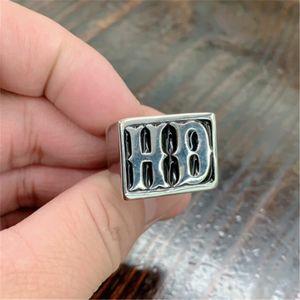 Anillo Motorbiker Tamaño 2pcs / lot 7-15 fresca joyería del anillo del estilo del motorista del acero inoxidable 316L del envío libre muchacho de los hombres