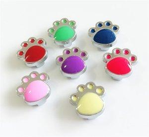 20pcs DIY 액세서리 8mm Paw 인쇄 슬라이드 매력 구슬 DIY 8MM 개 고양이 고리 팔찌 팔찌
