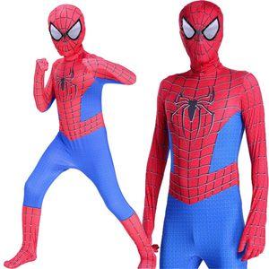 Novas crianças menino spiderman costume Spider-Man crianças e adulto Superhero herói de Lycra Spiderman Zentai Halloween Costume