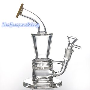 Mini Glass Bong Banger Hanger 14mm Female Joint Comb 100% Glass Bong Hanger High Borosilicate Glass Dab Rig 978-1