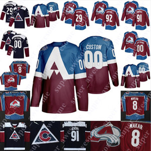 Colorado Avalanche Jersey Alex Newhook Joe Sakiç Peter Stastny Milan Hejduk Peter Forsberg Jacob MacDonald Valeri Nichushkin Hunter Miska