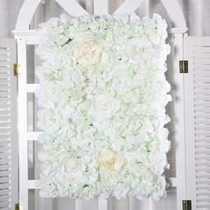 Toile de fond de mariage haut de gamme fleur panneau Rose Centerpieces Hydrangea Flower Party Décoration murale Fournitures 24pcs / lot