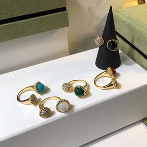 Nouvelle marque de mode parti bijoux pour les femmes blanc mère de perles anneaux coloré naturel pierre anneaux balle perles réglable anneaux
