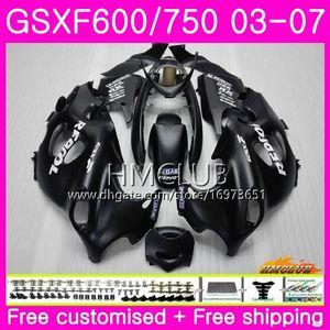 Body For SUZUKI KATANA GSX750F GSXF Matte black 750 600 03 04 05 06 07 Kit 2HM.9 GSXF750 GSX600F GSXF600 2003 2004 2005 2006 2007 Fairing
