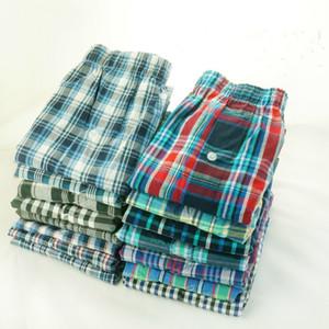 5 Pack Mens Underwear Woven Boxer Hombre Men Breathable Boxershorts Cotton Panties Male Gauze Shorts Plus Size CX200606