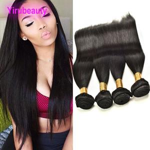 Brésil Extensions de cheveux humains droites 10 Bundles droites gros 8A Mink soie droites Bundles Dyeable 95-100g / pièce Trames cheveux