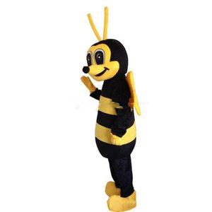 2018 Alta qualidade Hornet Bee Mascot Costume Vespa Traje Da Mascote Abelha Mascote Traje Frete Grátis