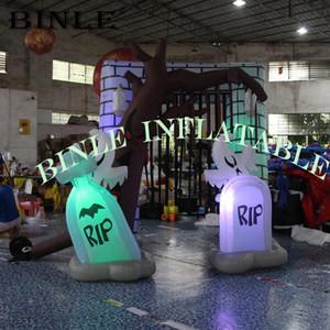 إضاءة هالوين نفخ مقبرة قوس الديكور