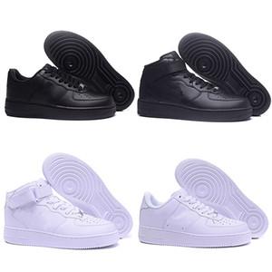 Nike Air Force 1 мужчины женщины все белые черные низкие высокие 1 спортивные кроссовки на воздушной подушке кроссовки EUR размер 36-45