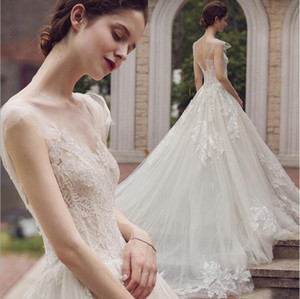 Light Wedding Bride Long Tail 2020 New Hepburn French Wedding Dress Is Thin And Simple