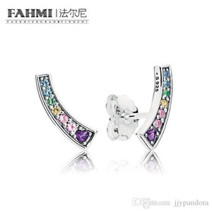 FAMHI 100% 925 Sterling Silver 1:1 Authentic Classic 297077NRPMX Exquisite Women Wedding Earrings Jewelry
