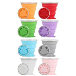 rinkware Cups & Saucers 270mL Portable Foldable Silicone Cup Outdoor Travel Camping Picnic Retractable Ultra-thin Drinking Mug Collap...