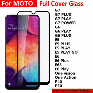 5D pleine colle PARFAITEMENT en verre trempé Téléphone écran protecteur pour Moto MOTOROLA G6 G8 G7 E6 plus Play Alimentation E6S ONE Vision action P40 P50