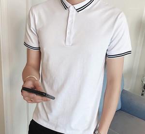 Stampato manica corta Casual T Slim solido di colore Moda traspirante Mens Tops Mens Designer Polo a righe