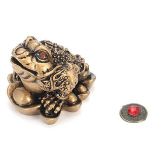 Chinese Feng Shui Money Lucky Fortune Wealth Frog Toad Coin Home Decoration Home Office Decoration Lucky Gifts Bronze