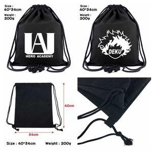 My Hero Academia Drawstring сумка Deku 40 см путешествия Портативный косметический Маленький рюкзак школа Draw Строка