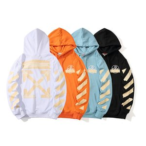OFF Golden tape arrow OW hoodie sweater white loose sports casual men and women couple models sweater