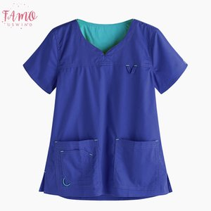 Women Pullover T Shirt Summer Casual Sexy V Neck Short Sleeve Double Pockets Tops Plus Size Loose Solid Short Sleeve T Shirt