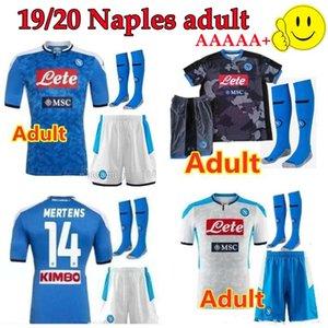 Adult suit 19 20 napoli soccer jersey home Away shirts 2019 2020 Naples ZIELINSKI HAMSIK INSIGNE MERTENS CALLEJON PLAYER ROG football shirts
