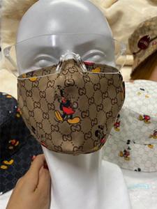 Unisex de la mascarilla con 2 filtros Diseño Máscaras con ranura para el filtro lavable a prueba de polvo deportes de ciclo de la media cara de la boca cubierta Máscaras D42804
