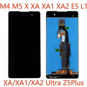 50pcs High-Quality Mobile Phone LCD Touch Screen Assembly panels For Sony M4 M5 XA1 XA2 Ultra E5 Z5 Plus Repair And Replacement DHL