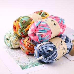 filo di stoffa fantasia per la borsa handmade del crochet di cotone morbido miscelato filati per maglieria a mano coperta cuscino 2 centimetri 30m
