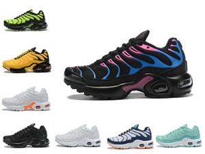 2020 New Designer Tn Plus Chaussures Enfants Belle Mesh respirant Tn Chaussures de course pour enfants Mode Tn Chaussures Sport Formateurs Athletic Requin