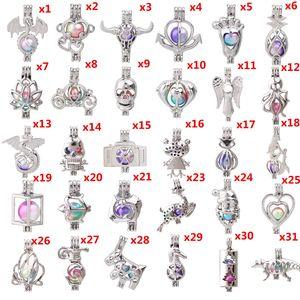 600 desenhos para você escolher-contas de coleira de pérolas Medalhão Aroma Aroma Essencial Óleo Difusor Medalhão DIY Colar Brincos Bracelete Jóias