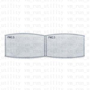 Pm2. 5 filtre yüz maskesi 5 katmanlar koruyucu aktif karbon filtre toz geçirmez Duman maskesi Conta farklı 2 boyutu yetişkinler için çocuk