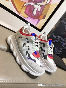 2018 CHAIN REACTION Love sneaker women men red black ght weight chain linked designer sport fashion Casual Shoes oly18082406