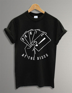Prezzo basso Tees Short Top O-Neck Compression Panic At The Disco Maglietta per uomo streetwear maglietta strana Funny mens t-shirt