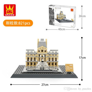 children World famous building model building blocks assembly toys kids intelligence Early education toy Home office ornament 04