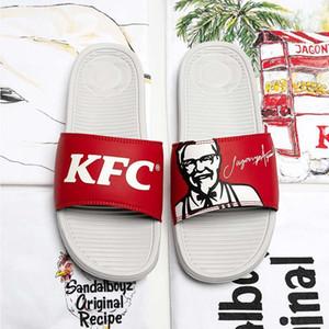 """2020 de la manera caliente zapatillas conjuntos KFC SANDALBOYZ Corte de diapositivas deportivos tendencia zapatillas de playa de hombres y mujeres par de zapatillas """"Heritage"""""""