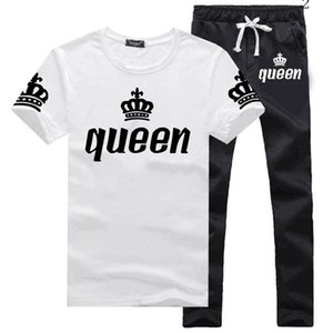 2020 Fashion men's sports suits summer short-sleeved T-shirt two-piece men and women casual sports suits new size S-3XL2