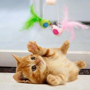 Мода несколько Pet Cat Kitten ToysLovely Птица Тизер Wand перо Rod Кошка Play