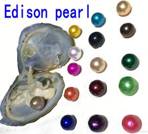 2018 New DIY Rainbow 9-12mm Edison perla in acqua dolce Oyster desiderio perla Significato divertente regalo di compleanno per le donne partito gioielli fai da te