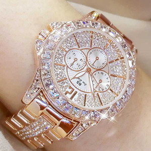 Regalo del reloj BS abeja de la hermana reloj de las mujeres de moda de alta calidad casual impermeable del acero inoxidable del reloj de señora Quartz para la esposa 2019