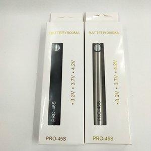 PRO-45S предварительно нагретую батарею VV-Vape ручка 900 мАч с зарядным устройством USB, переменное напряжение 510 резьбовую нижнюю зарядку, выходное напряжение в течение 45 секунд