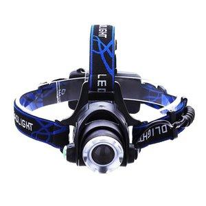 LED phares LED phares T6 Zoom Phare torche utilisation de la lampe de poche Head 2 * 18650 par pêche ajouter un cadeau