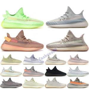 2019 chaud Stock X Kanye Noir statique Ouest Chaussures de course Femmes Hommes 3M Reflective Synth Antlia GID Clay Zebra Beluga véritable forme Sneakers