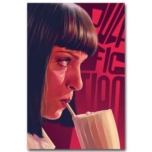 Pulp Fiction Vintage Filmkunst Silk Leinwand Poster Drucken 13x20 24x36 zoll Bilder für Wohnzimmer Dekoration Wohnkultur (mehr) -3