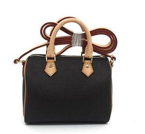 Hot shoulder M61252 cute handbag leather shoulder speedy cross bags 16cm Female NANO Noe bucket brown flower mini pillow CLUCH BAG