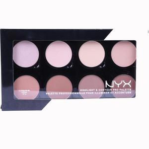 Dropshipping Hot Makeup NYX Highlighter & Contour 8 shades Face Powder Palette Foundation Concealer Contour Kit