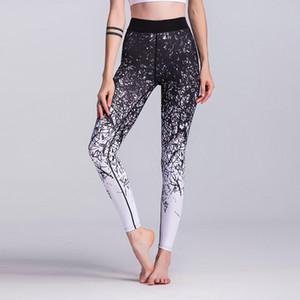 vendita all'ingrosso floreale stampato donna yoga pantaloni alta elastico fitness leggings asciutto aderente stretto pantaloni leggings yoga palestra pantaloni palestra