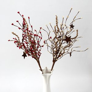 12pcs lot Artificial Flower Christmas Decoration RED White Pip Berry Seasonal Holiday Flower Crown Deciration Home Living Room