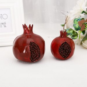 Furit Hollow Pomegranate Desk decor Home Decoration Accessories Modern Adornos Para Casa wine red fruit decor gift