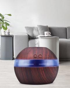 Mavi LED gece lambası ile ücretsiz gemi 300ml USB Ultrasonik araç Nemlendirici Aroma Yayıcı Esansiyel Yağ Yayıcı Aromaterapi sis makinesi
