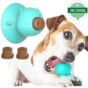 Cane Lick giocattolo con aspirazione CupTeeth pulizia Chew Toy Dog silicone durevole Lick giocattolo con super forte ventosa Feeder Puzzle Giocattoli
