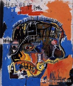 "Jean Michel Basquiat ""Scull"" pintado à mão HD Imprimir Home Decor Abstract Graffiti Wall Art Oil Painting On Canvas.Multi tamanho g60 200313"
