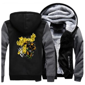 Japão Anime JOJO Hoodie Men Jacket Winter Warm Fleece Hoody Jojo's Bizarre Adventure Hoodies Sweatshirt Dio The World Thick Coat